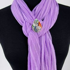 Color Shell Slide Scarf Jewelry $10.90 www.PurpleBoxJewelry.com