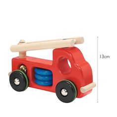 Wooden Toy Fire Engine from Bajo Toymakers Little White Company, Fire Engine, Wooden Toys, Engineering, Flat, Wood Toys, Fire Truck, Architectural Engineering