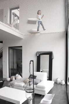Projet kidfriendly : Maison d'architecte à chessy, salon