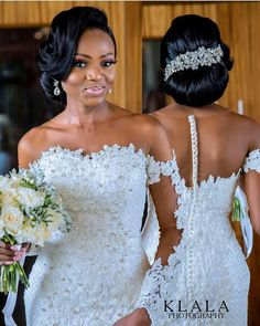 The Nigerian wedding page is dedicated to the style & class obsessed bride out there, offering fun & fantastic wedding ideas & inspirations on the latest wedding trends, DIY and more 💏💑👰💍💎💐🎂👫💄💇😘😍👌! Wedding Dress Backs, Lace Mermaid Wedding Dress, Dream Wedding Dresses, Bridal Dresses, Wedding Gowns, Bridesmaid Dresses, Wedding Blog, Wedding Ideas, Lace Wedding