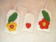 Kokopelli Design: Gehäkelte Geschenkanhänger/Crocheted Gift Tags