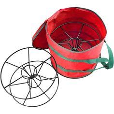Red Fabric Christmas Light Storage Bag and Steel Reels Holds 2 100 Feet Strings #StorageBag #ChristmasLights #Organizer #ChristmasStorage #HeavyDuty #Durable #ThickSleek #Home #Storage #Christmas #StorageBox