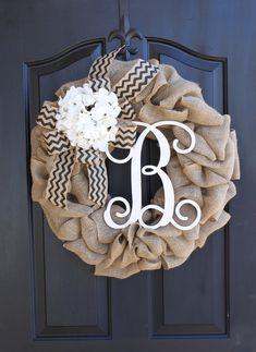 Fall Wreaths Hydrangeas Autumn Decor Burlap Wreath - Wreaths - Summer Wreath for door - Summer Wreath - Home Decor -Gift idea Mothers day Gift -
