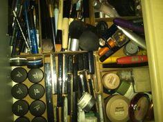 Makeup organizer.