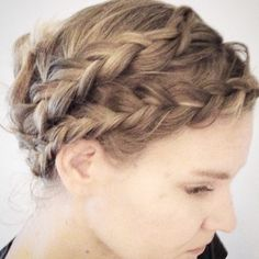 Double dutchbraids in to an updo
