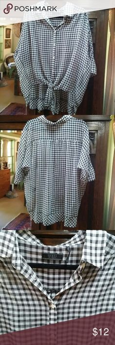 Adorable guess checkered shirt. Very cute on. Excellent condition. I love this shirt but I have just too many clothes☺ GUESS Tops