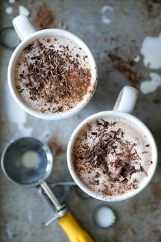 Stout Hot Chocolate with Ice Cream | www.floatingkitchen.net