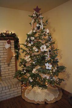 In Full Bloom Floral Design: Elegant, French Burlap Christmas Decor