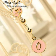 `O` Charm Rhinestone Earphone Plug