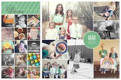 Monthly Photo Collages + Project Life - simple as that