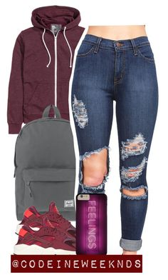 """11/13/15"" by codeineweeknds ❤ liked on Polyvore featuring Herschel Supply Co. and NIKE"