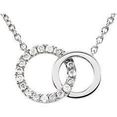 "14kt White .06 CTW Diamond Circle 18"" Necklace | Stuller"