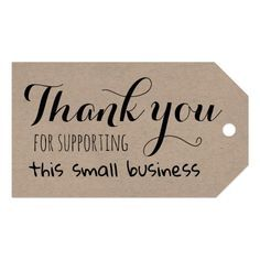 Business Thank You Cards, Business Gifts, Thank You Tags, Thank You Quotes For Support, Thank You For Order, Small Business Quotes, Support Small Business, Thank You Card Design, Thanks Card