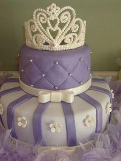 Purple Tiara Cake