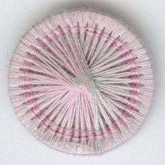 Knopf Shop ∞ Knöpfe ∞ Zw521 Zwirnknopf, 100% Baumwolle, waschbar bis 40ø grau-rosa