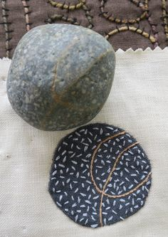 Threads of Thought on creating with cloth and stitch Stone Pathways, Soapstone Carving, Fabric Postcards, Textiles, Patch Design, Textile Artists, Boro, Embroidery Ideas, Fabric Art