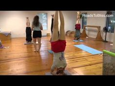 83 best group  inversions images  iyengar yoga yoga