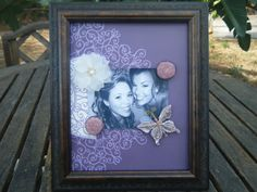 Two Sided Magnetic Scrapbook Picture frame by staceywade2004, $16.00