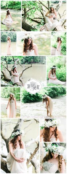 Photo credit: Kathryn Hyslop Photography Boho, flower child inspired photoshoot.  Flowy dress, flower crown, set in nature.  #hippie #boho #style #gown #flowydress #flowers #photoshoot #photoinspiration #nature #curls #whattowear #photography #portraits