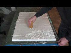 ArtisinU.com - Kit A100 & A101 Texture Process Looks like a sheet of rock when finished.