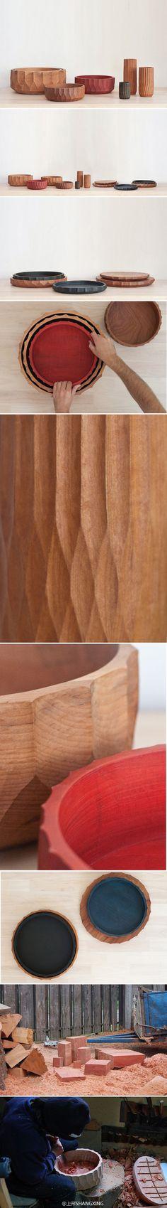 「Las Doce手工木刻碗碟」 来自智利的The Andes House工作室 | http://www.douban.com/photos/album/106224691/