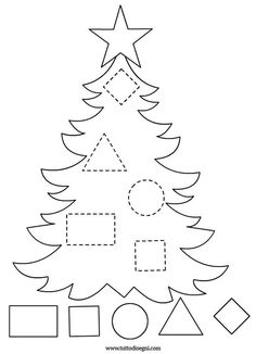 Get the kids tracing lines to match the decoration to the tree! Once that's all done then get them to colour it in! NOTE: I've also tried this as a sticker tracing worksheet which the kids LOVE! Preschool Christmas Crafts, Christmas Activities For Kids, Winter Crafts For Kids, Preschool Activities, Holiday Crafts, Art For Kids, Felt Christmas, Christmas Colors, Christmas Themes