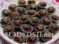 Čokoládové košíčky s krémem