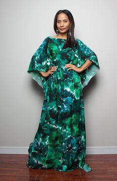 Maxi Dress - Long Wide Sleeve Boho Dress : Funky Elegant ...