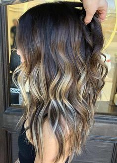 55 Fantastic Highlights Of Balayage Ombre Hair Colors for 2018. Looking for traditional hair colors to sport nowadays? We assure you that best shades of balayage hair colors with the combinations of ombre hair colors and shades is really awesome option for ladies to wear in 2018. To get you best ever highlights you may visit this post. Women who have long layers and medium waves hair looks they can go for this amazing hair color.