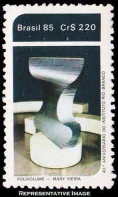 Brazil Scott 1982 1985 220 Cr Polivolume by Viera Rio Branco Institute. Mint never hinged.