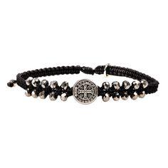My+Saint+My+Hero+Stairway+to+Heaven+Crystal+Bracelet+-+Silver+on+Black