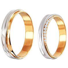 Обручальные кольца | белое и рыжее золото | бриллианты | ЮБ Роскошь