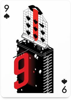 9 of Spades by Anton Repponen - http://playingarts.com/cards/anton-repponen/