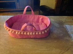 free pattern for baby doll moses basket fabric bed | English (US)