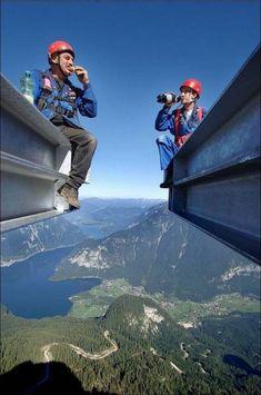 Imágenes de personas que no le tienen miedo a las alturas