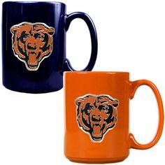Chicago Bears 15oz. Coffee Mug Set - Navy/Orange - $29.99