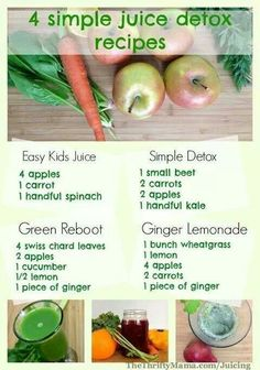 4 Juice Detox Recipes