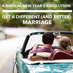 New Year Resolutions for a Better Marriage