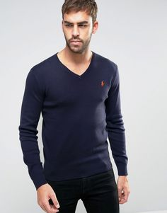 Get this Polo Ralph Lauren's v-neck pullover now! Click for more details. Worldwide shipping. Polo Ralph Lauren Jumper With V-Neck In Slim Fit Navy - Navy: Jumper by Polo Ralph Lauren, Lightweight breathable knit, V-neck, Embroidered logo, Ribbed trims, Slim fit - cut closely to the body, Hand wash, 100% Cotton, Our model wears a size Medium and is 188cm/6'2 tall. Naming his brand after a game that embodies classic style, Ralph Lauren created Polo Ralph Lauren in 1967 initially selling men's…