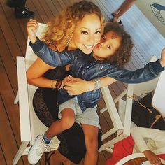"Pin for Later: 63 Times Mariah Carey Proved She's the Most Glamorous Mom ""Give Mommy a big kiss!"""