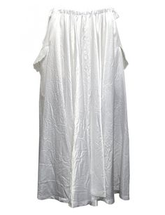 Miyao white long skirt  White skirt with two pockets, flap lace and adjustable waist by elastic band and laces  Composition: 100% cupra  Made in Japan