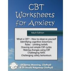 #Book Review of #CBTWorksheetsforAnxiety from #ReadersFavorite - https://readersfavorite.com/book-review/cbt-worksheets-for-anxiety  Reviewed by Arya Fomonyuy for Readers' Favorite  CBT Worksheets for Anxiety (Adult version): A Simple CBT Workbook to Record Your Progress When You use CBT for Anxiety by Dr James Manning and Dr Nicola Ridgeway is more than a workbook as the title suggests; it's an amazing tool that can help anyone with anxiety transform their liv...