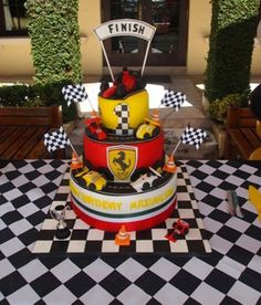 Cake from a race car party #racecar #partycake
