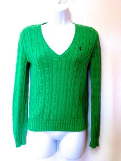 Mag Sweater Cashmere Lime Green Long Sleeve Turtleneck Cable Knit ...