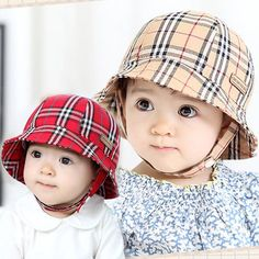 Baby British style bucket sun hat in a range of colours $4.89 from Aliexpress