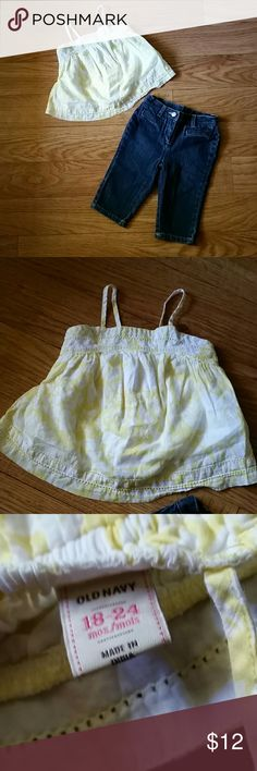 Janie+Jack and Old Navy baby girls outfit 18-24m Both items in excellent condition. Comes from a pet and smoke free home. Remember to bundle and save! Janie and Jack Matching Sets
