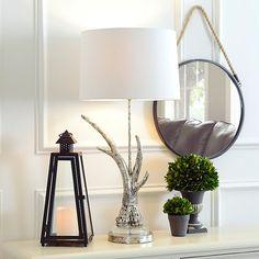 Silver Antler Table Lamp   Kirklands