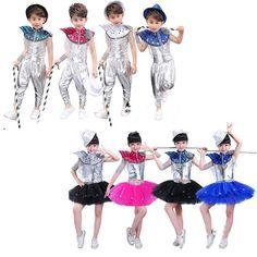 4e1feaf071cb Dance Wear Costume Kids Performance Sequins Modern Clothes 110cm-160cm  #fashion #clothing #