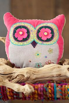 Kindness Matters Pink and Purple Owl Shaped Pillow Natural Life