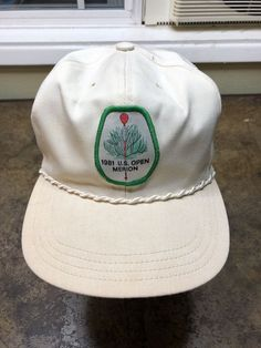 1981 US Open Merion Hat Vintage 80s Strapback Golf Trucker Patch Cap   TalkTown  Trucker 54c8ef59616f
